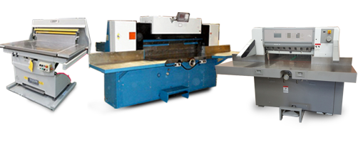 Buy a used industrial guillotine paper cutter
