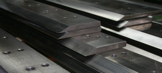 Paper cutter knife sharpening, grinding