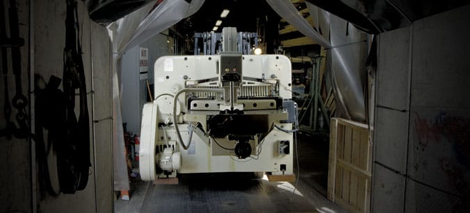 We move heavy duty paper cutters, paper handling machines