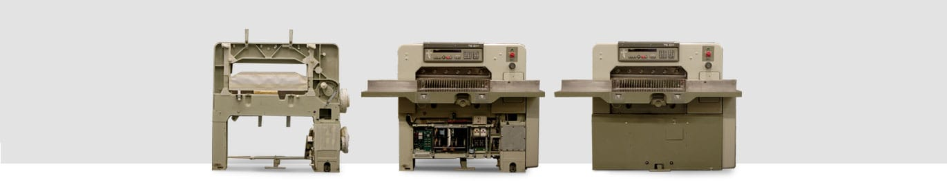 Used paper cutters and paper handling machines