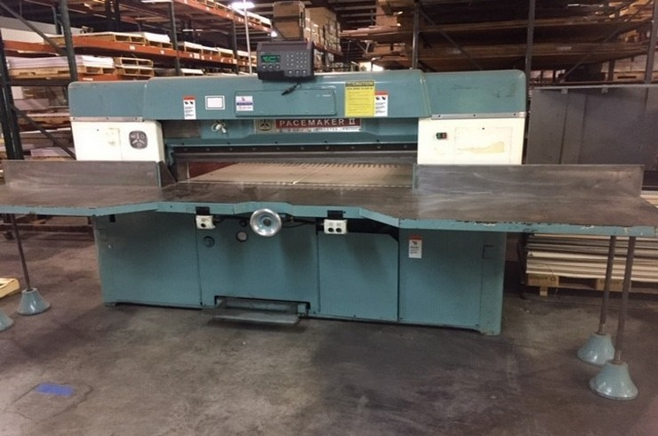 "Used Dexter Lawson 60"" 60 Pacemaker II Paper Cutter Machine"