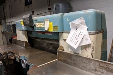 """Used 42"""" Dexter Lawson Paper Cutter Pacemaker II Machine"""