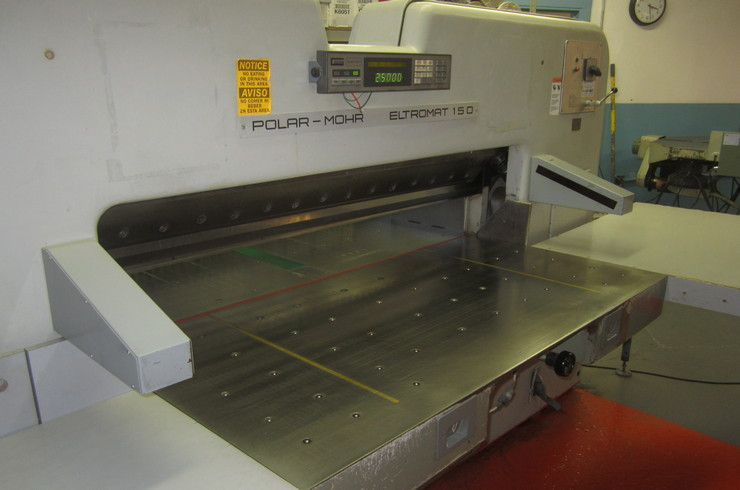 "Used Polar 59"" 150 EL Paper Cutter Thumnail Photo Three"