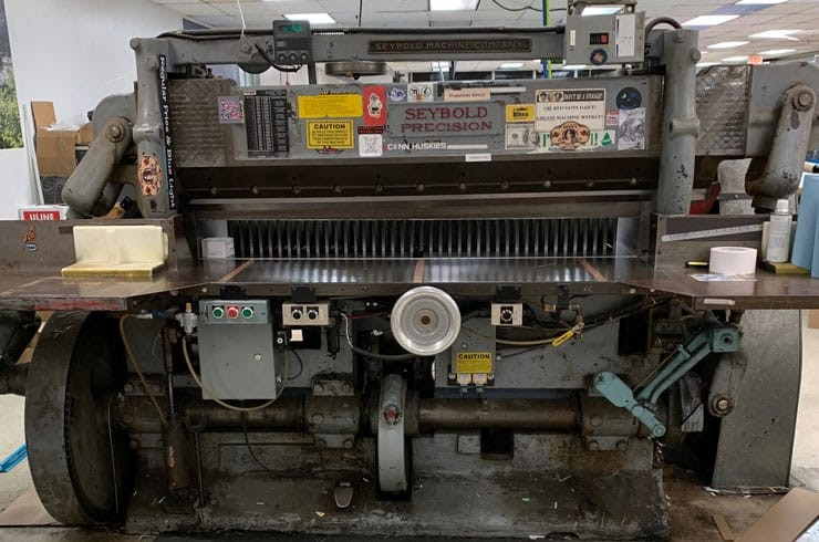 "Used Harris Seybold 65"" 10Z Paper Cutter Thumnail Photo One"