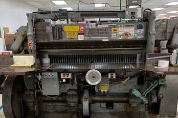"""Used 65"""" Harris Seybold Paper Cutter 10Z Machine"""