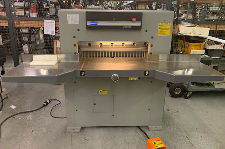 "Used Challenge 30"" MCPB Paper Cutter Machine"