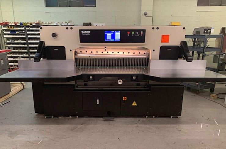 """Used Saber 54"""" S137 Paper Cutter Machine"""
