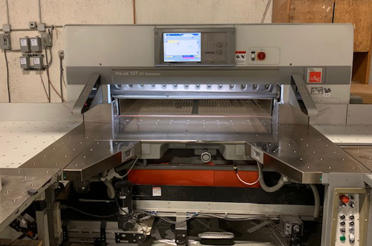 "Used Polar 54"" 54"" Polar 137 XT-AT Paper Cutter Machine"