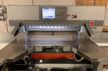"Used 54"" Polar Paper Cutter 54"" Polar 137 XT-AT Machine"