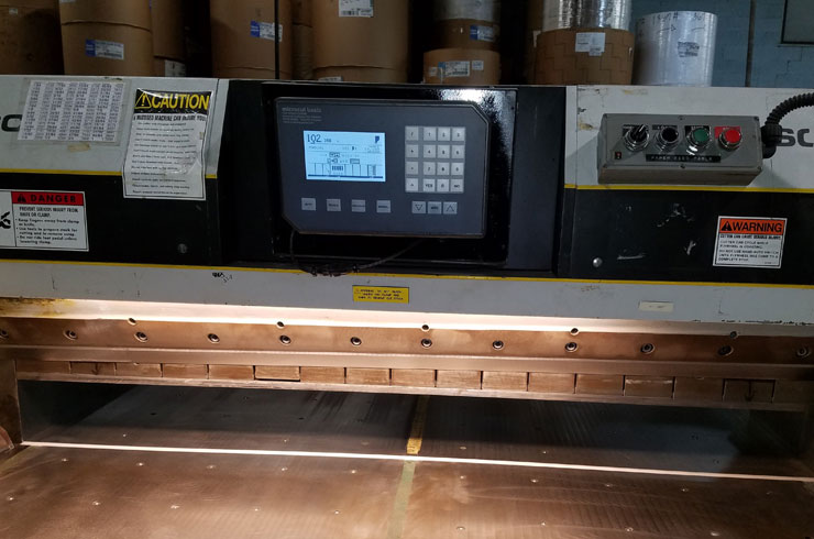 "Used Dexter Lawson 70"" MCC Paper Cutter Thumnail Photo Two"