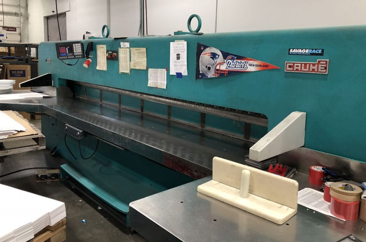 "Used Cauhe 144"" 366 Paper Cutter Machine"