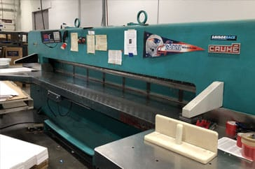 """Used 144"""" Cauhe Paper Cutter 366 Machine"""