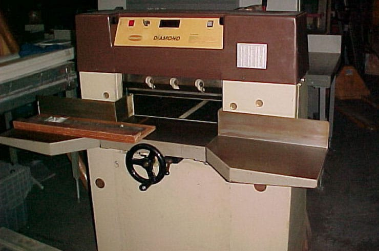 "Used Challenge 19"" Diamond Paper Cutter Machine"