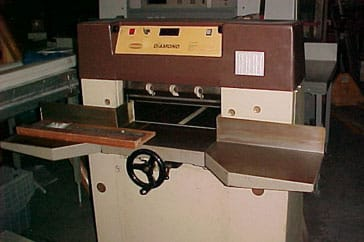 "Used 19"" Challenge Paper Cutter Diamond Machine"