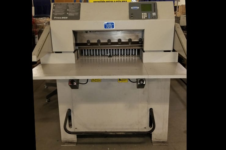 "Used Challenge 26.5"" Titan 265TC Hydraulic Programmable Paper Cutter Machine"