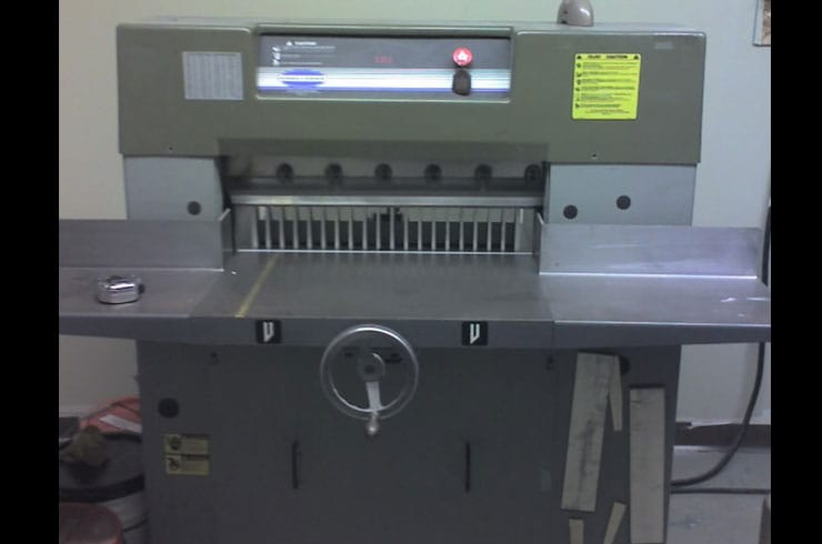 "Used Challenge 26.5"" Diamond Paper Cutter Machine"