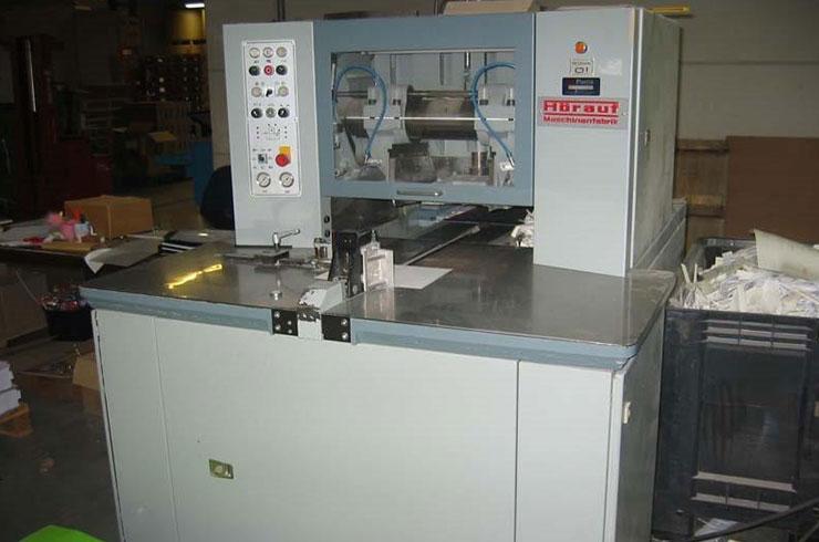 "Used Horauf 15"" SN140 Demand Three-Knife Trimmer Machine"