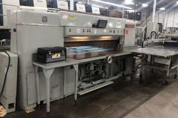 """Used 87"""" Dexter Lawson Paper Cutter Pacemaker II Machine"""