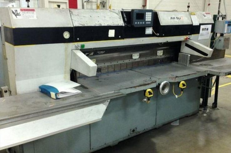 "Used Dexter Lawson 70"" 70 MCC Paper Cutter Machine"