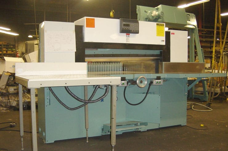 "Used Dexter Lawson 52"" 52 MPU Paper Cutter Machine"