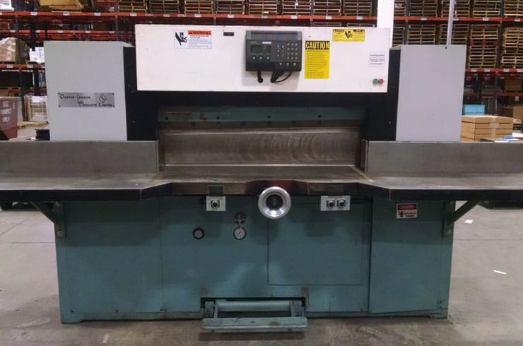 "Used Dexter Lawson 47"" 47 MPU Paper Cutter Machine"