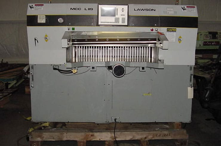 "Used Dexter Lawson 47"" 47 MCC Paper Cutter Machine"