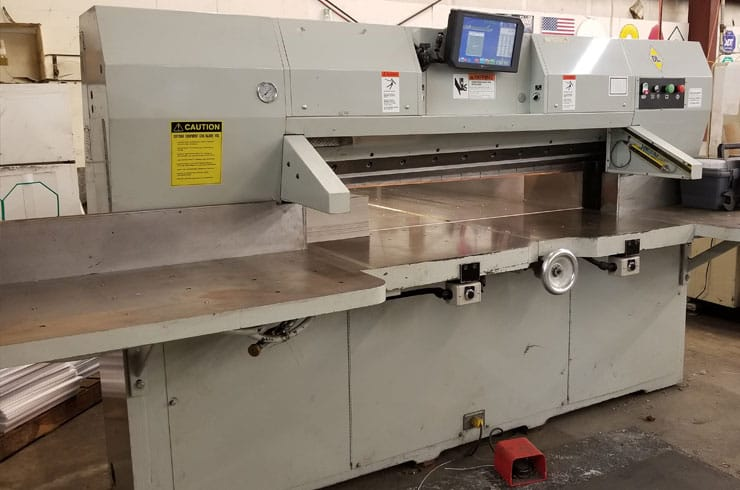 "Used Dexter Lawson 60"" 60 MCC Paper Cutter Machine"