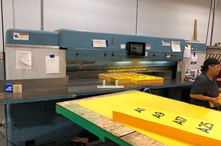 "Used Dexter Lawson 110"" 110 Pacemaker II Paper Cutter Machine"