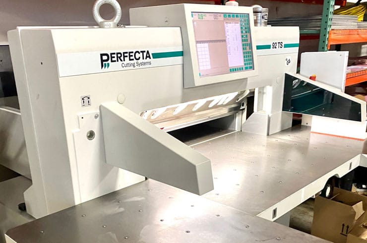 "Used Perfecta 36"" 92 TS Paper Cutter Thumnail Photo Three"