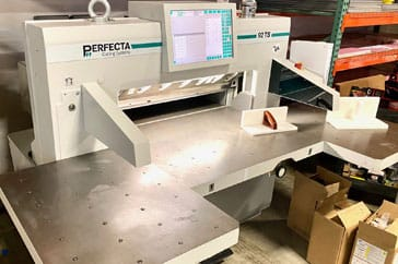"Used 36"" Perfecta Paper Cutter 92 TS Machine"