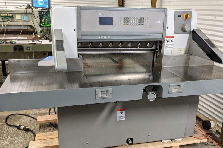 "Used Polar 30.7"" Polar Paper Cutter Machine"