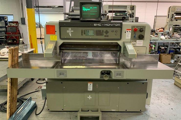 """Used  36"""" 92 EMC Monitor Paper Cutter Machine"""