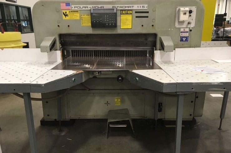 """Used Polar 45"""" 115 EL Paper Cutter Machine"""