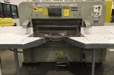 "Used 45"" Polar Paper Cutter 115 EL Machine"