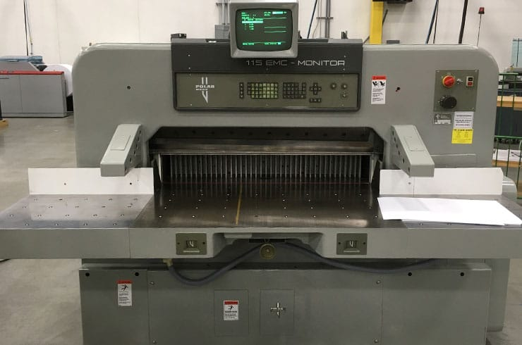 "Used Polar 45"" 115 EMC Monitor Paper Cutter Machine"
