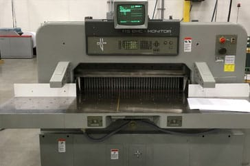 "Used 45"" Polar Paper Cutter 115 EMC Monitor Machine"