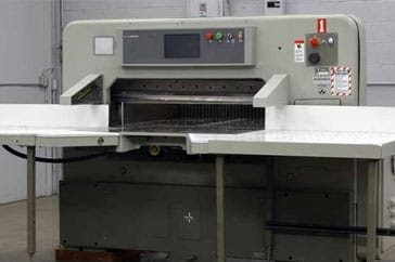 "Used 45"" Polar Paper Cutter 115 EMC Monitor with Microcut Color Machine"