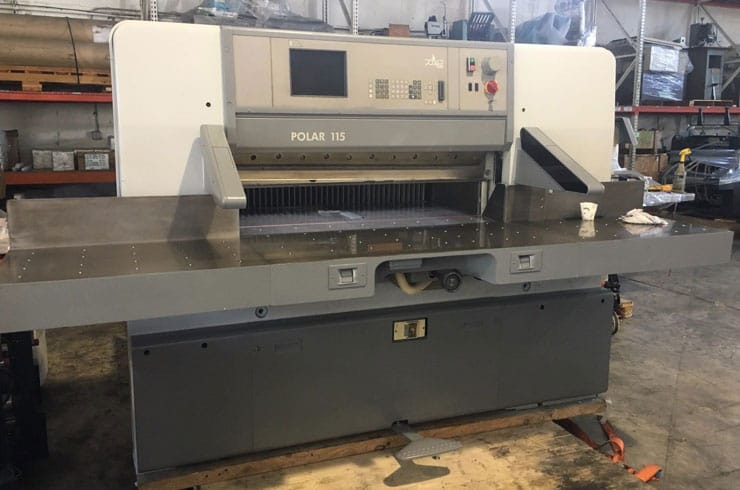 "Used Polar 45"" 115 ED Paper Cutter Machine"