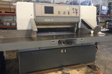 "Used 45"" Polar Paper Cutter 115 ED Machine"