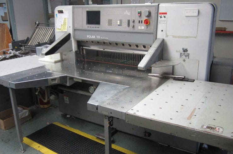 "Used Polar 45"" 115 ED - Autotrim Paper Cutter Machine"