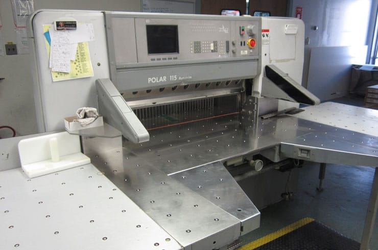 "Used Polar 45"" 115 ED - Autotrim Paper Cutter Thumnail Photo Three"
