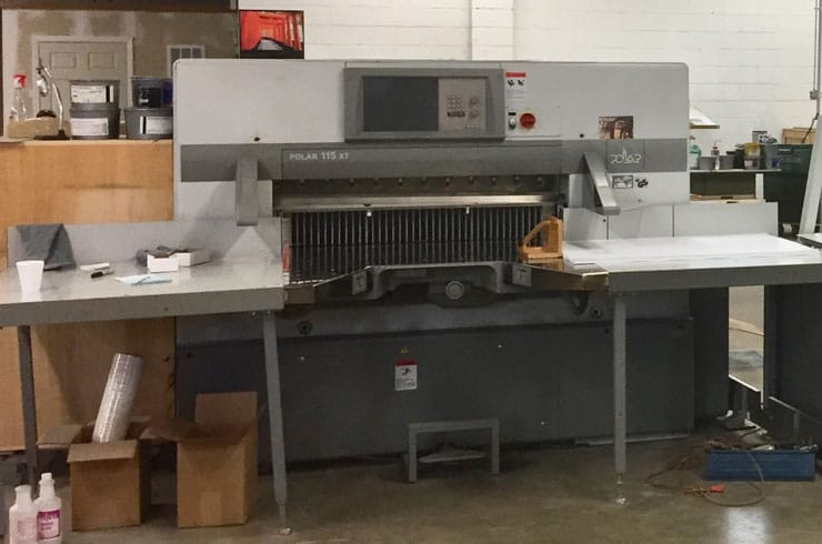 "Used Polar 45"" 115 XT Paper Cutter Machine"