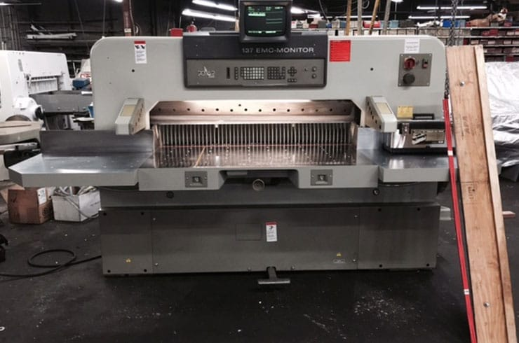 "Used Polar 54"" 137 EMC Monitor Paper Cutter Machine"