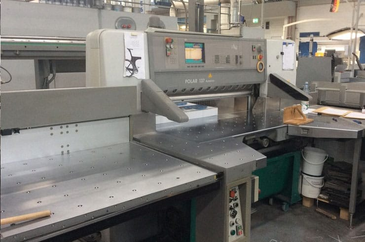 "Used Polar 54"" 137 ED Autotrim Paper Cutter Machine"