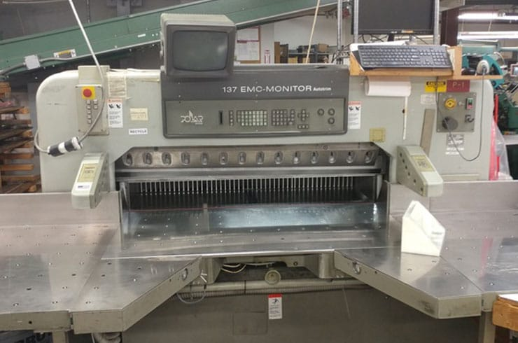 "Used Polar 54"" 137 EMC Monitor Autotrim Paper Cutter Machine"