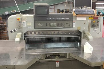 "Used 54"" Polar Paper Cutter 137 EMC Monitor Autotrim Machine"