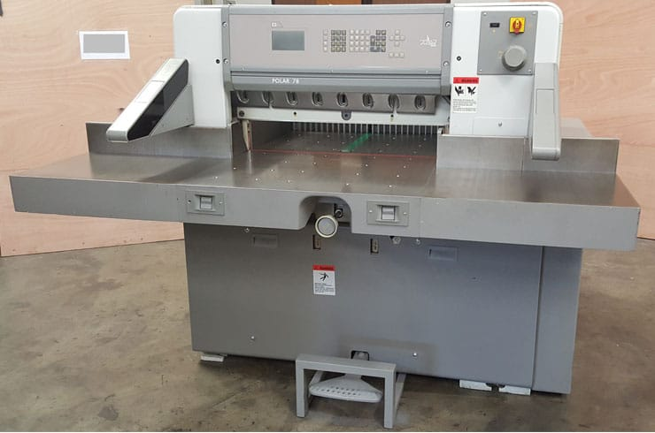 "Used Polar 30"" 78ES Paper Cutter Machine"