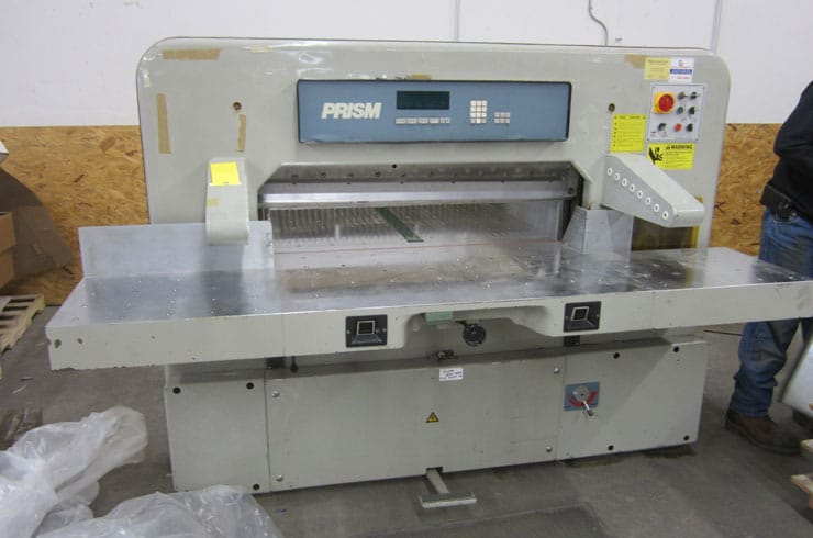 "Used Prism 45"" 115 Digital Paper Cutter Machine"