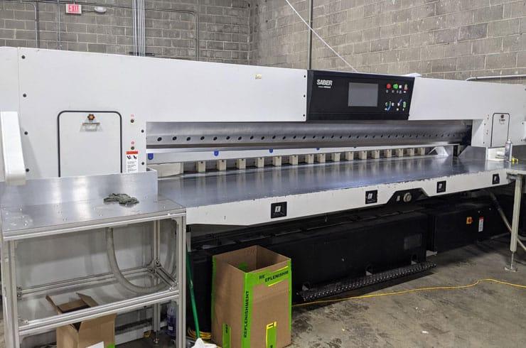 "Used Saber 141"" 360 XT-Plus Paper Cutter Machine"