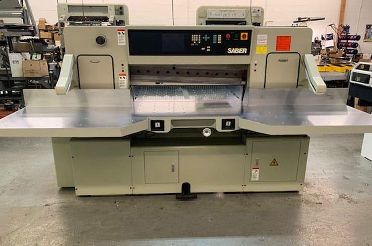 """Used Saber 45"""" 116S Paper Cutter Machine"""